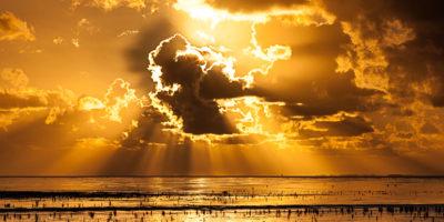 sunburst Waddenzee